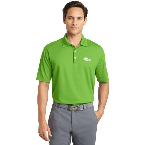 Mens Nike Golf Micro Pique Polo- Green