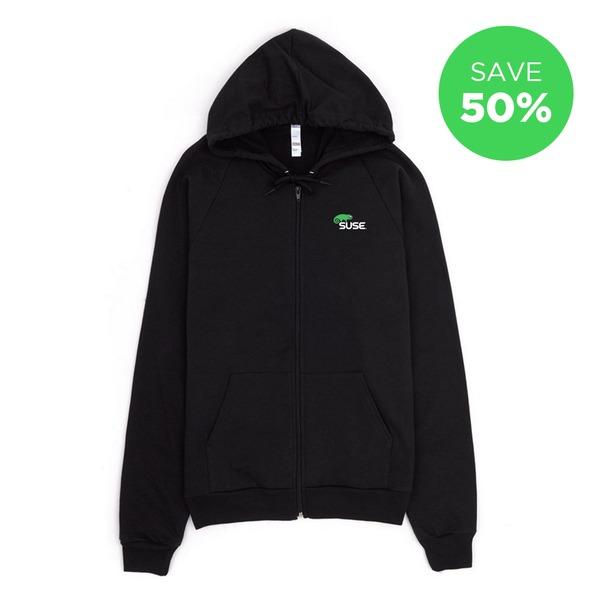 openSUSE Linux Men/'s Black Hoodie
